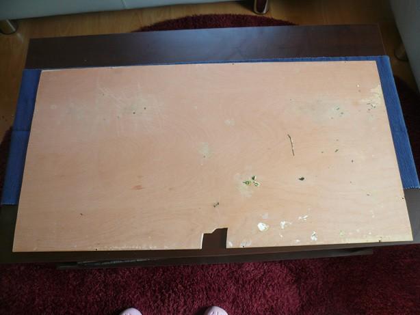 Zugeschnittene Holzplatte