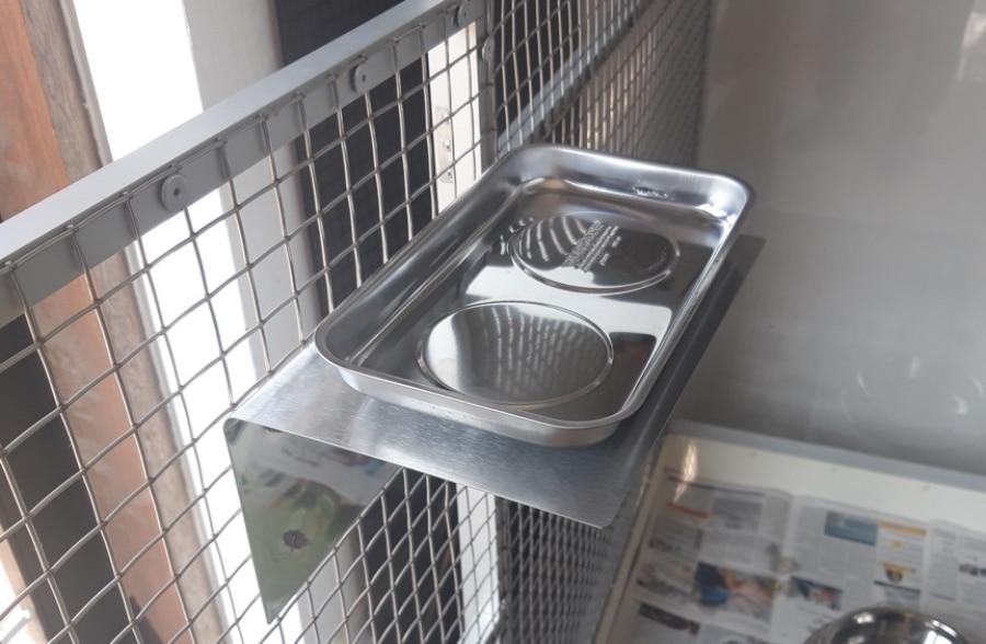 Papageien Badewanne aus Edelstahl